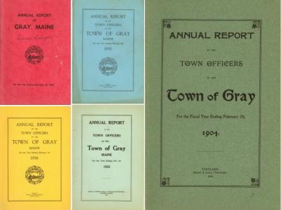 Sample volumes: Town of Gray Annual Reports