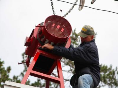 photo of siren installation